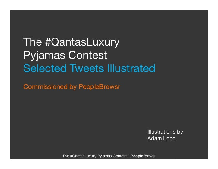 QantasLuxury Pyjamas Contest: Illustrated Tweets