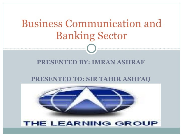 Business communication in banking sector