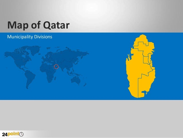 Editable PPT Slides on Qatar Map