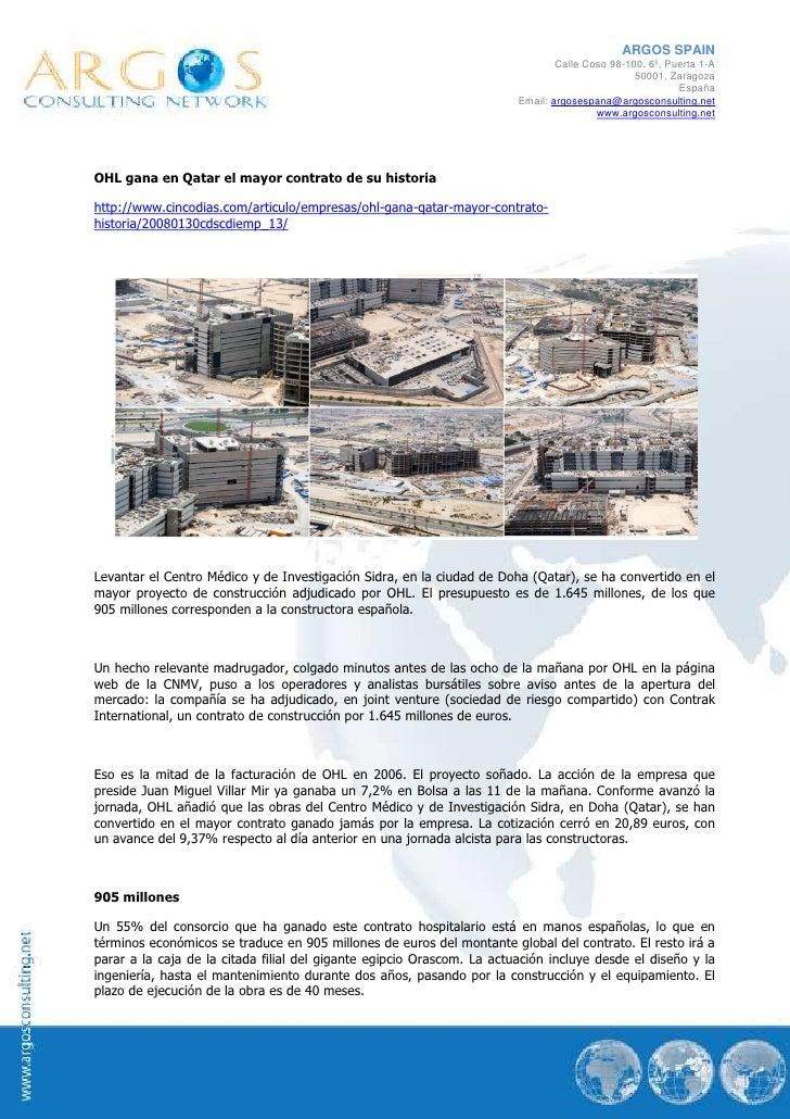 ARGOS SPAIN                                                                                Calle Coso 98-100, 6º, Puerta 1...