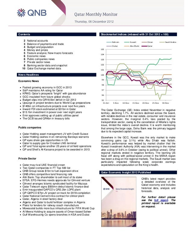 Qatar monthly monitor 6th december 2012