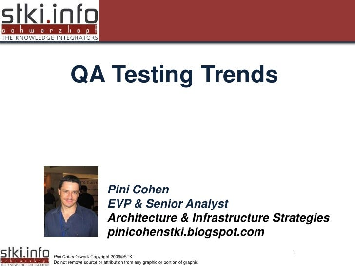 QA Testing Trends  Your Text here                                                               Your Text here            ...