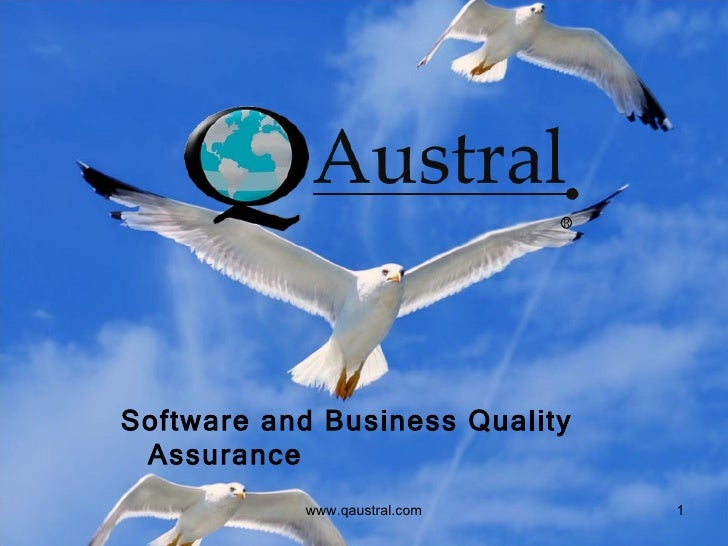 Software and Business Quality Assurance www.qaustral.com