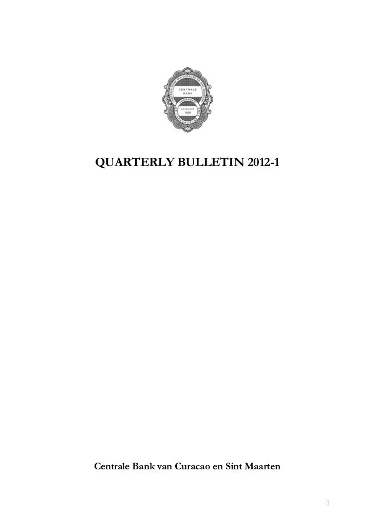 Central Bank Of St.Maarten & Curacao's Quarterly Report 2012