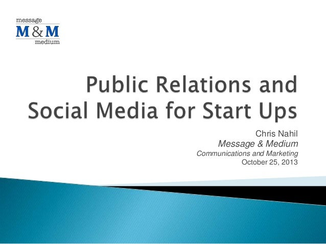 PR and Social Media For Start Ups