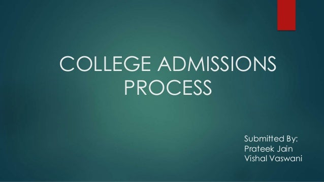 Guide to the College Admissions Process