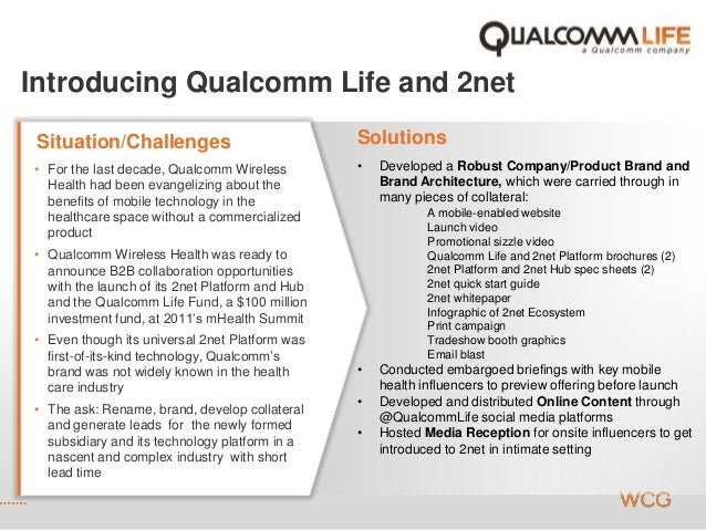 Introducing Qualcomm Life and 2net SolutionsSituation/Challenges • For the last decade, Qualcomm Wireless Health had been ...