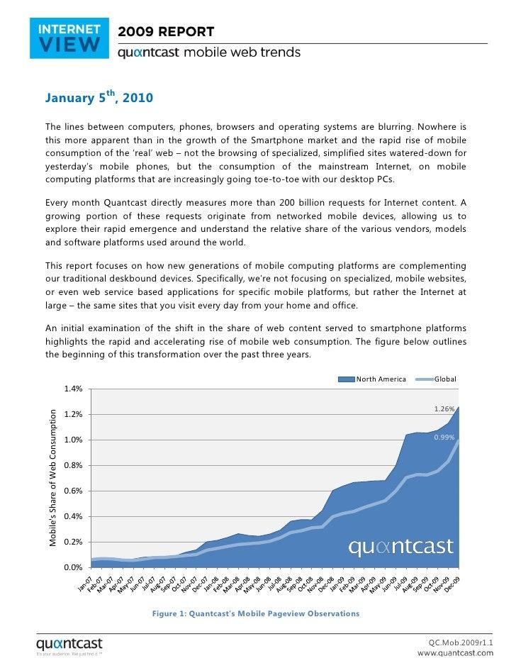 Quantacast Mobile Web trends report 2009