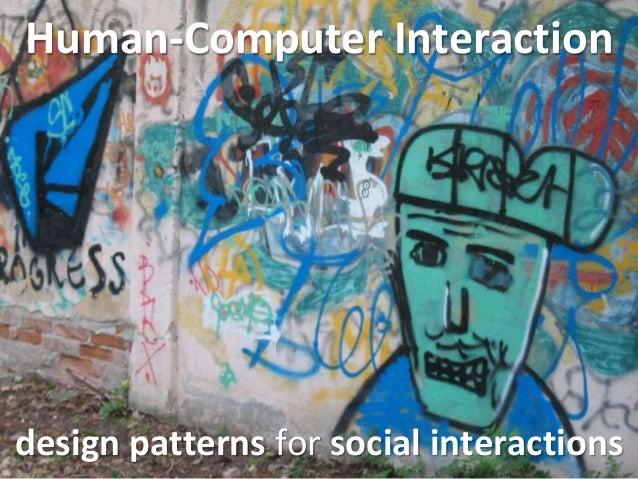 HCI 2014 (6 of 10): Social (Web) Interactions