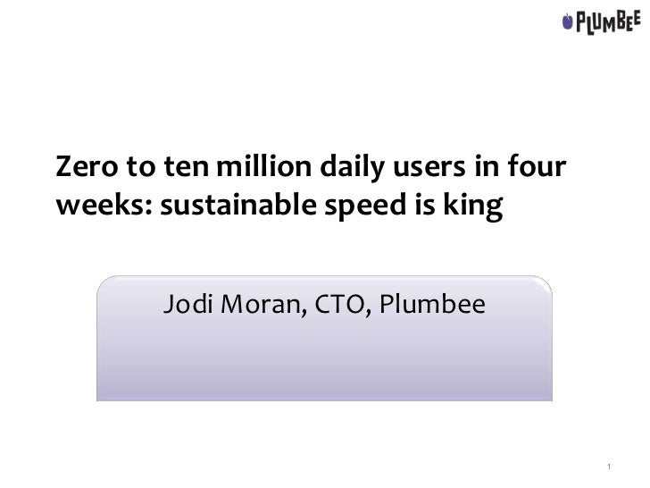 Zero to ten million daily users in four weeks: sustainable speed is king