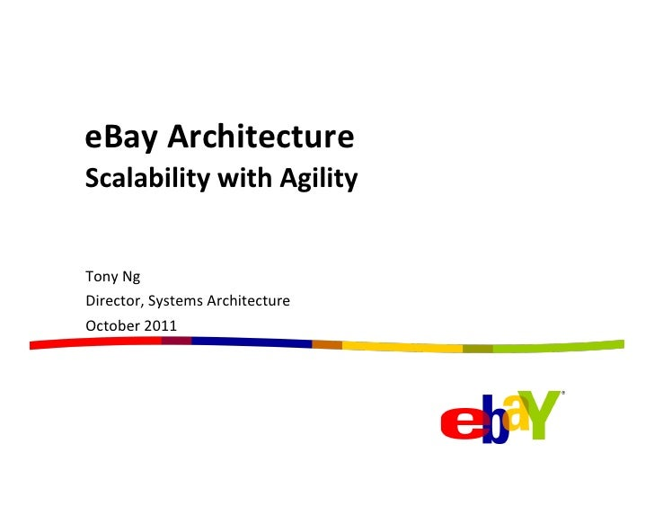eBay	  Architecture	  Scalability	  with	  Agility	  Tony	  Ng	  Director,	  Systems	  Architecture	  October	  2011