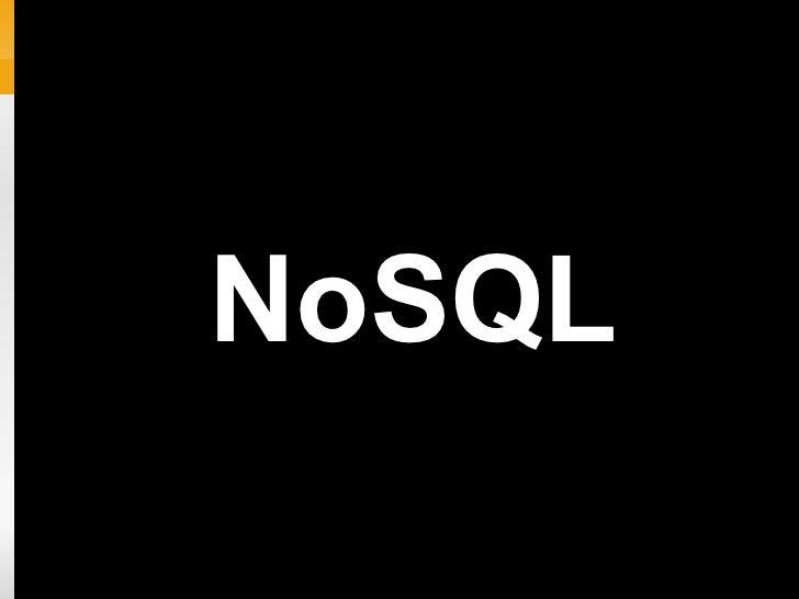NoSQL + Node.js