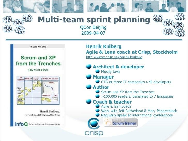 Qcon multi team sprint planning