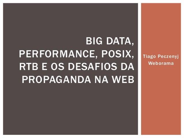 Tiago Peczenyj Weborama BIG DATA, PERFORMANCE, POSIX, RTB E OS DESAFIOS DA PROPAGANDA NA WEB