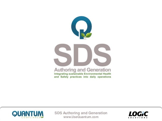 Quantum Compliance SDS Solution Presentation