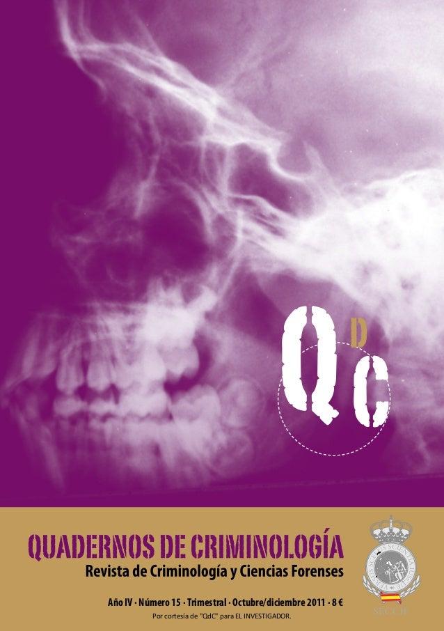 """QC              dAño IV · Número 15 · Trimestral · Octubre/diciembre 2011 · 8 €           Por cortesía de """"QdC"""" para EL IN..."""