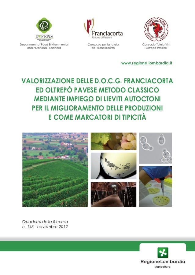 Department of Food Environmental   Consorzio per la tutela            Consorzio Tutela Vini    and Nutritional Sciences   ...