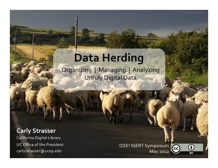 From Flickr by freefotouk                                              Data Herding                           ...
