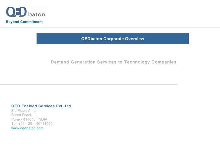 QEDbaton Integrated Demand Generation Services