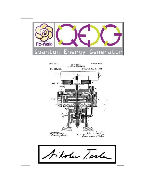 Qeg Quantum Energy Generator Free Energy Device