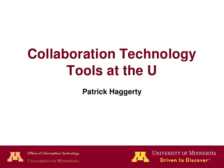 Collaboration Tools at the U