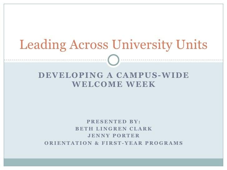 Leading Across University Units