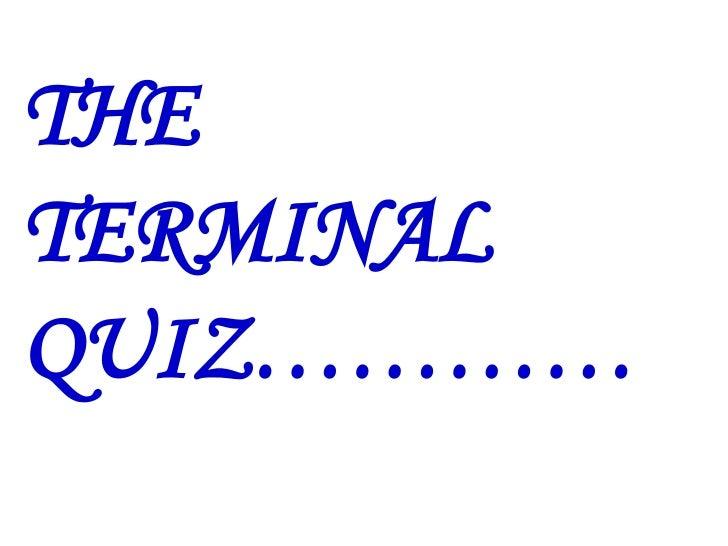 the terminal quiz