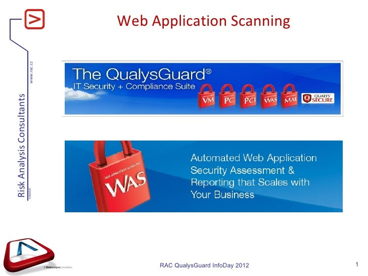 QualysGuard InfoDay 2012 - Web Application Scanning