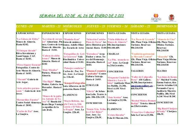 Qha  del 20 al 26 de enero