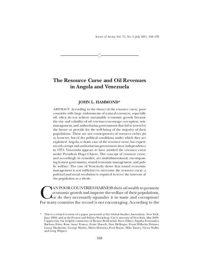 Resource Curse in Latin America
