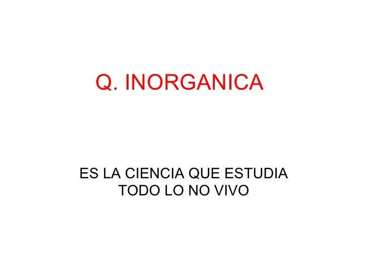 Q inorganica