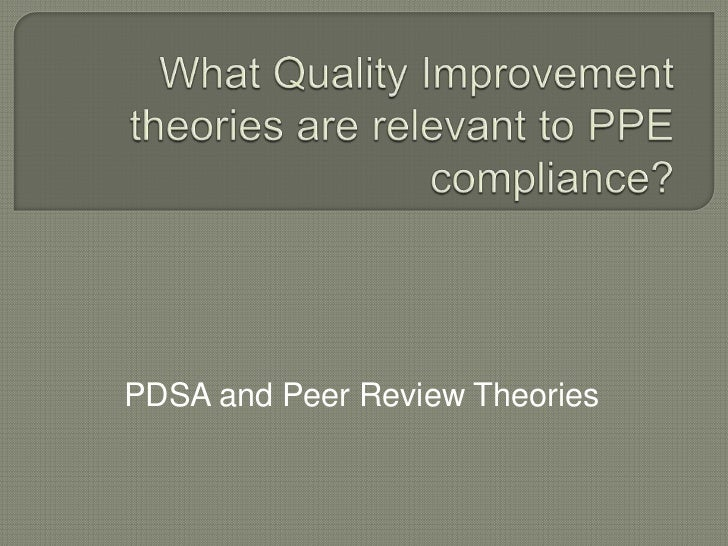 QI theories relevant to PPE compliance