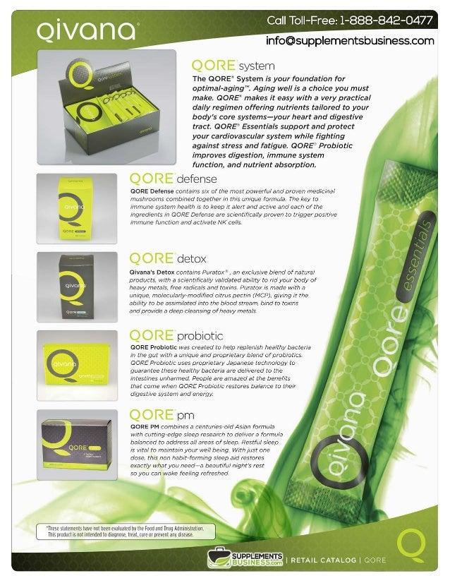 Qivana Products Catalog - Qore, Metaboliq & Price | Price Sheet