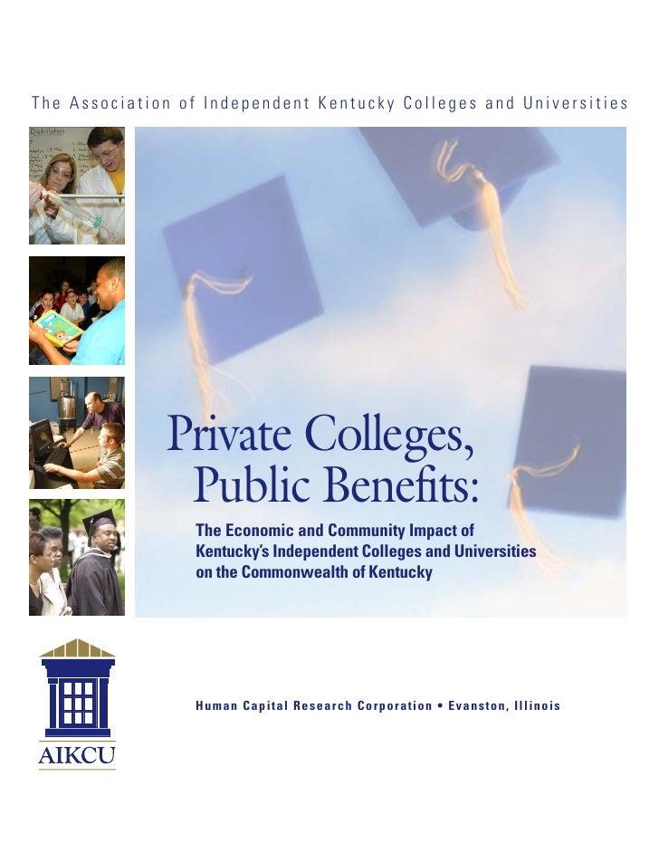 Private Colleges, Public Benefits (2006) - full report