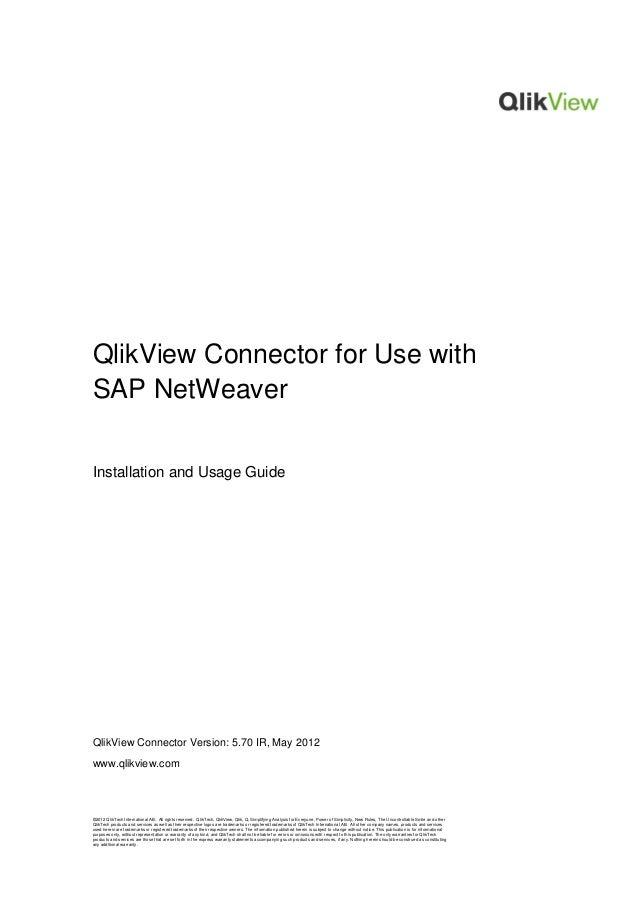 ©2012 QlikTech International AB. All rights reserved. QlikTech, QlikView, Qlik, Q, Simplifying Analysis for Everyone, Powe...