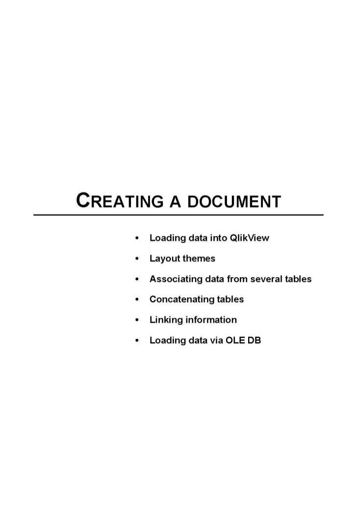 Qlik view creating a document
