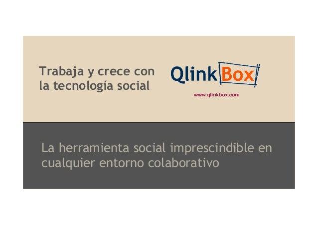 Trabaja y crece con la tecnología social  La herramienta social imprescindible en cualquier entorno colaborativo