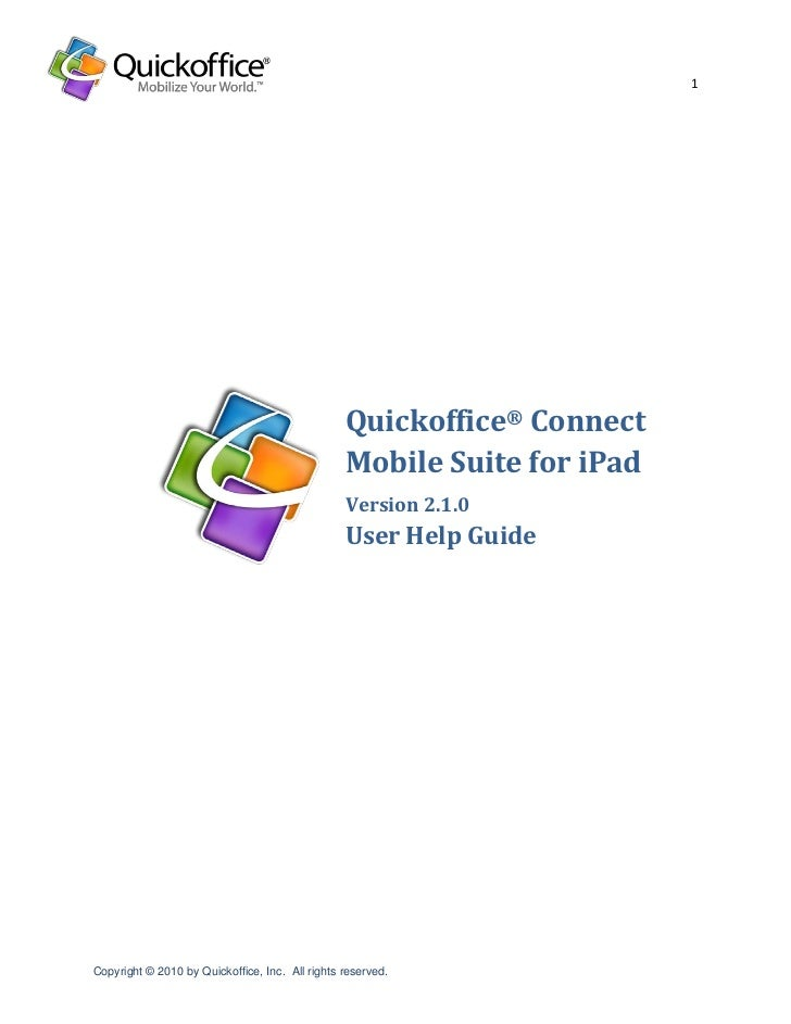 1                                                 Quickoffice® Connect                                                 Mob...