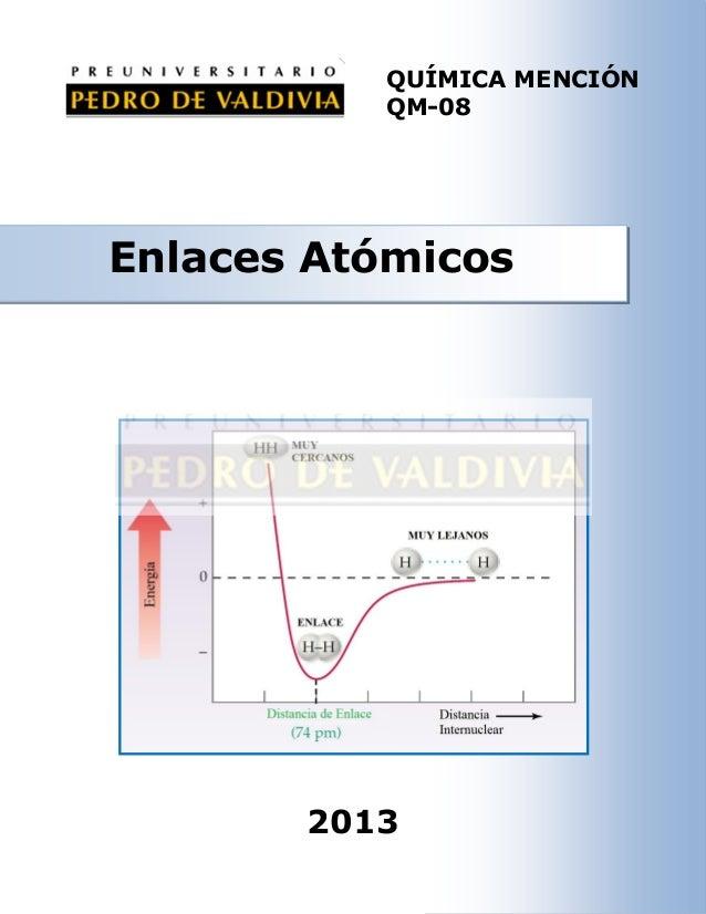 Enlaces Atómicos (QM08 - PDV 2013)