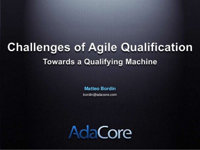 Challenges of Agile Qualification