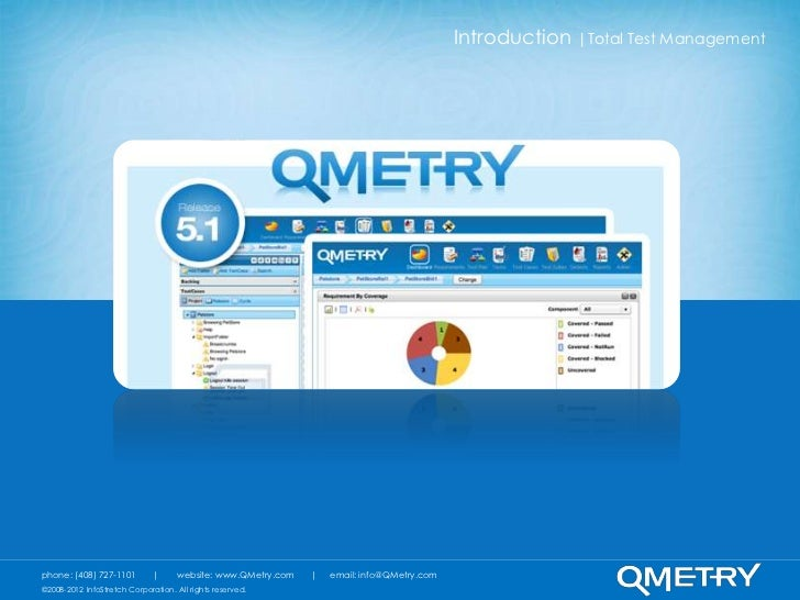 Introduction  Total Test Managementphone: (408) 727-1101               website: www.QMetry.com       email: info@QMetry.co...