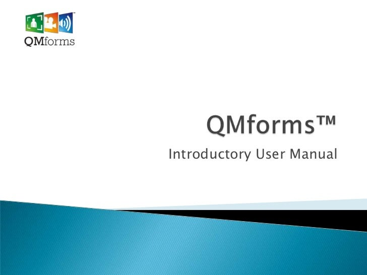 Introductory User Manual