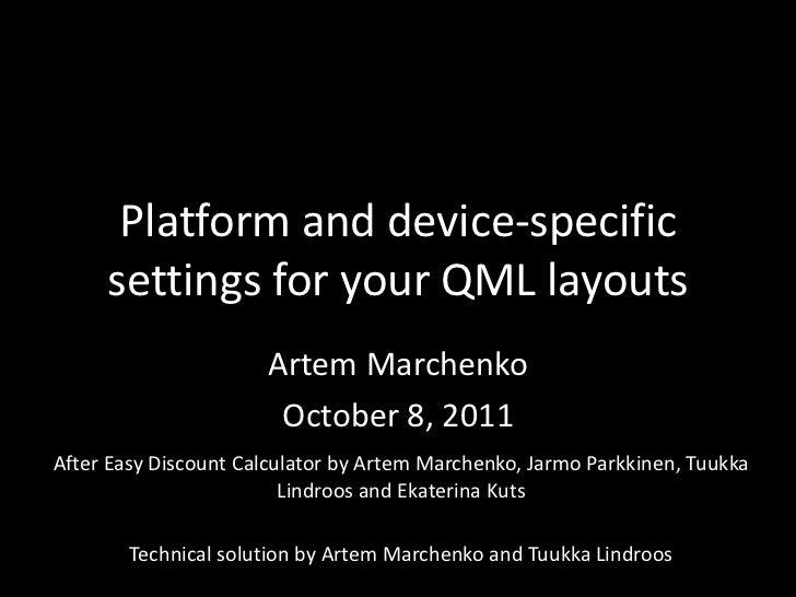 QML settings