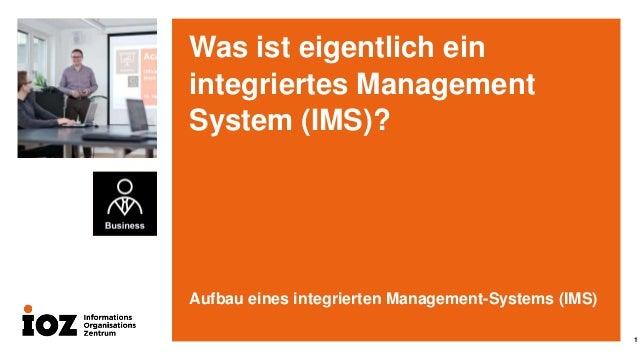 Aufbau eines integrierten Management-Systems (IMS) mit SharePoint