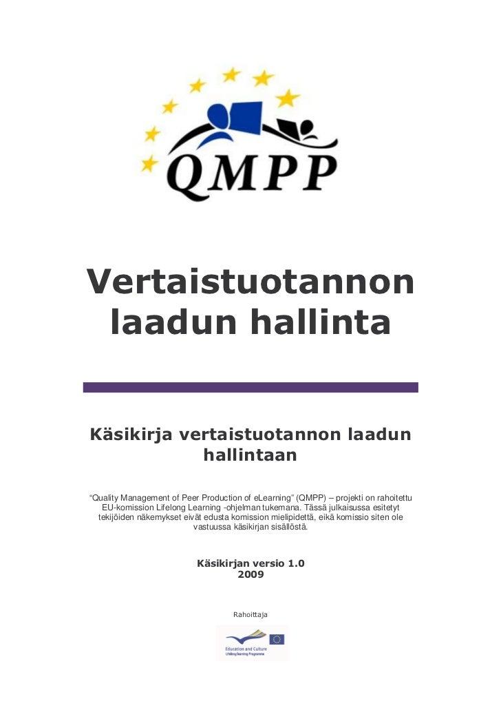 QMPP Vertaistuotannon laadun hallinta
