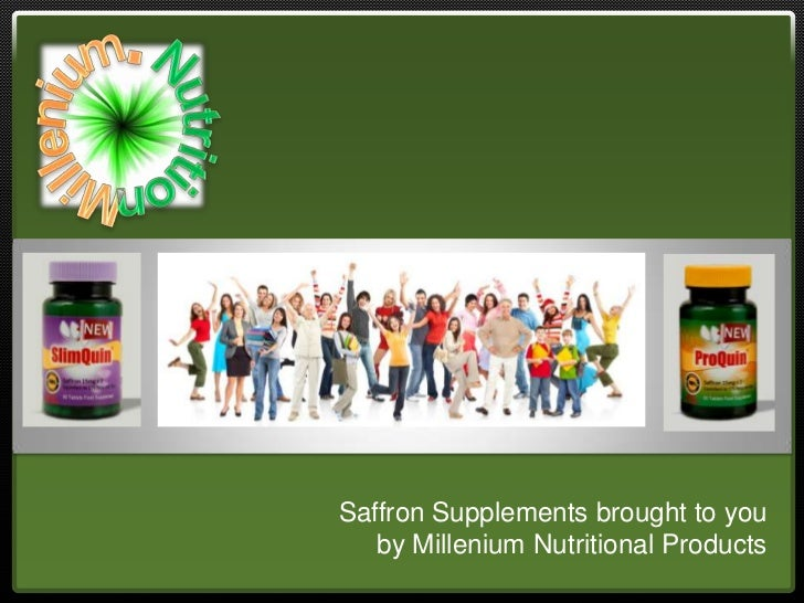 Saffron Supplements brought to you   by Millenium Nutritional Products