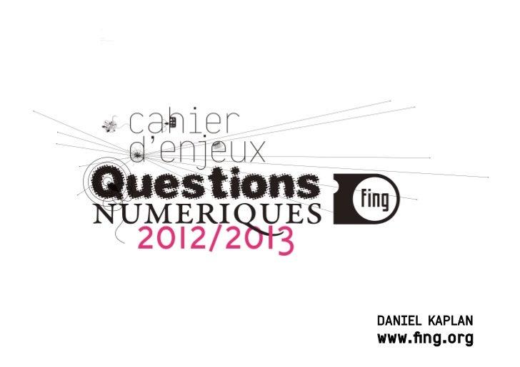 Questions Numériques 2012-2013