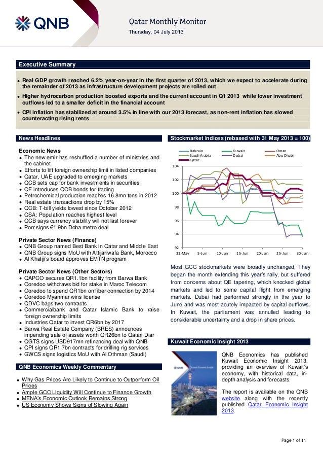 Page 1 of 11 Executive Summary  Real GDP growth reached 6.2% year-on-year in the first quarter of 2013, which we expect t...