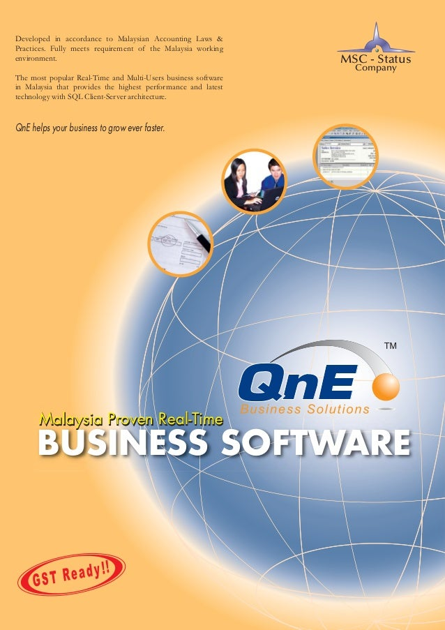 QnE Business Software Brochure