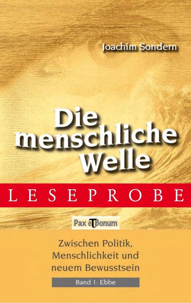 Leseprobe Buch:Die menschliche Welle Band I - Ebbe bei Pax et Bonum Verlag Berlin